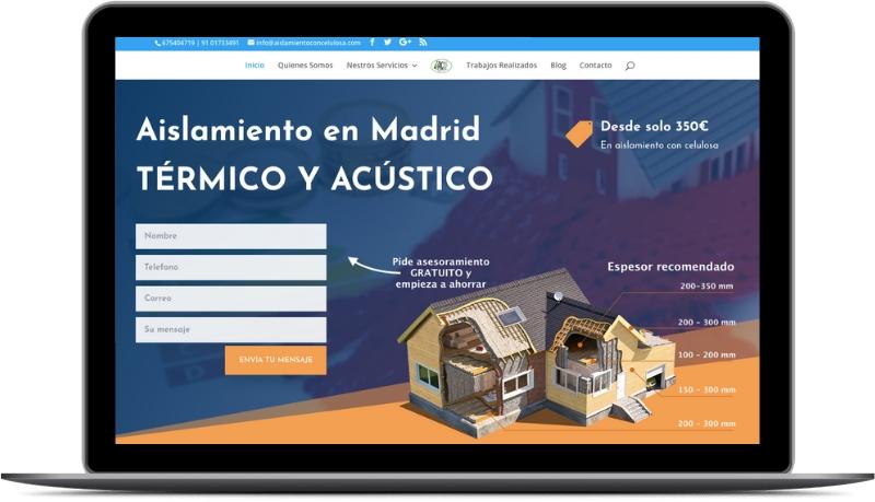 Creare Site Web și Optimizare SEO Aislamientoconcelulosa